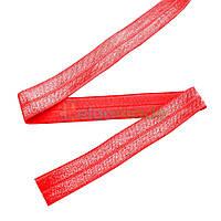 Тесьма эластичная для повязок, КРАСНАЯ, 15 мм