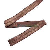 Тесьма эластичная для повязок, КОРИЧНЕВАЯ, 15 мм