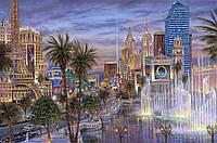 """Картина по номерам """"Вечер в Вегасе"""" 40х50см, С Коробкой"""