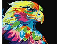 """Картина раскраска по номерам """"Радужный орел"""" набор для рисования"""
