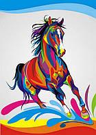 Картина по номерам Радужный конь 30х40см от бренда Babylon