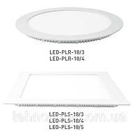 Светодиодная энергосберегающая (LED) панель Eurolamp PLR/PLS 18W