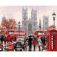 """Картина раскраска по номерам """"Дождливый Лондон"""" набор для рисования"""