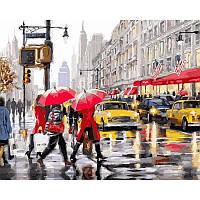 """Картина раскраска по номерам """"Осень в Нью-Йорке"""" набор для рисования"""