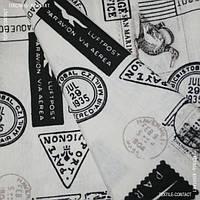 Декор лонета принт почтовые марки черн/бел.