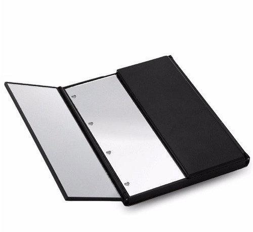 Зеркало косметическое для макияжа с LED подсветкой в виде книжечки (черное)