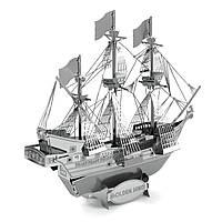 Объемная металлическая 3D модель Корабль Golden Nind
