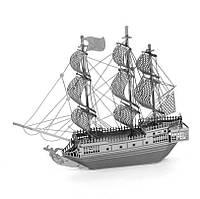 Объемная металлическая 3D модель Корабль Black Pearl
