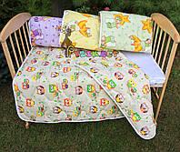 Cтеганое детское одеяло 100х130 см, цвет на выбор, фото 1