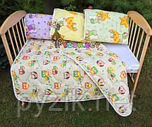 Стьобана дитяче ковдру 100х130 см, колір на вибір