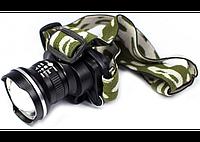 Яркий и влагозащитный налобный LED фонарь