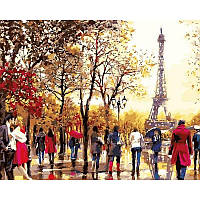 """Картина по номерам """"Любимый Париж"""" [40х50см, С Коробкой]"""