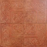 Декор из 4-х плиток Zeus Ceramica Cotto classico Rosone Rosso 65х65 (Зеус керамика Кото классико Росон Россо)