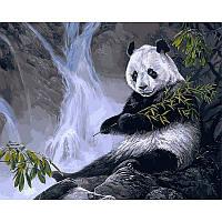 "Картина раскраска по номерам ""Панда с бамбуком"" набор для рисования"