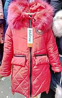 Теплая детская куртка на зиму 2308/6