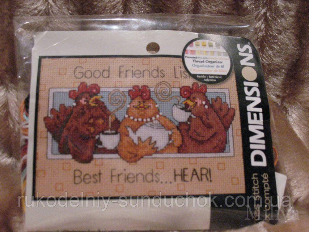 Набор для вышивания Dimensions 65079 Хорошие друзья слушают Good Friends Listen