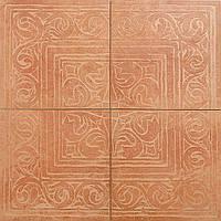 Декор из 4-х плиток Zeus Ceramica Cotto classico Rosone Rosa 65х65 (Зеус керамика Кото классико Росон Роса)