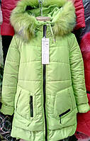 Теплая куртка для девочки на зиму 2308/7