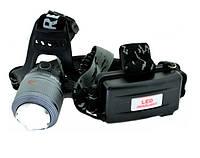 Яркий аккумуляторный налобный LED фонарь