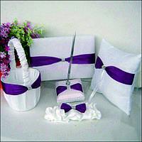 Свадебный набор аксессуаров для фиолетовой свадьбы
