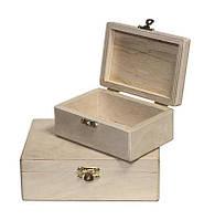 Заготовка для декупажа Alizarin Шкатулка прямоугольная 2 8 х 12 х 5 см фанера (SH002-8-12-5.F)