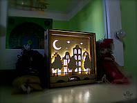 """Ночной светильник в детскую комнату """"Старый город"""""""