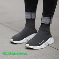 Женские высокие кроссовки Balenciaga Knit Sock Speed Trainer Black