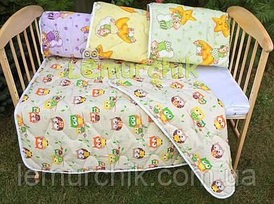Зимнее стеганое детское одеяло 100х130 см, цвет на выбор