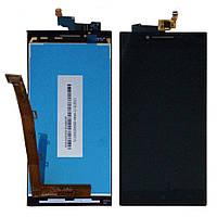 Дисплей Lenovo P70 леново с тачскрином в сборе, цвет черный.