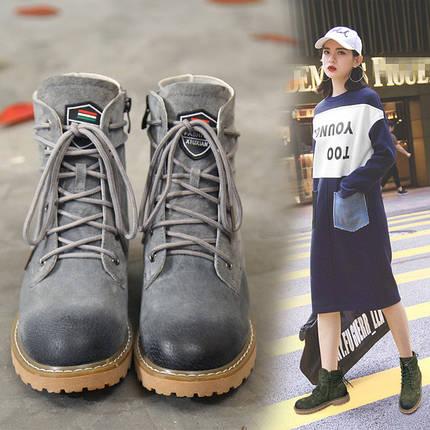 Ботинки женские потертые кожаные, фото 2