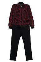 Женский спортивный костюм Billcee черно-красный батальный