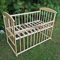 Кровать детская Наталка ясень светлая  (колеса, качалка, опускание борта), фото 1
