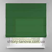 Римская штора 160x170 см из однотонной ткани, зелёное яблоко, 75%хб 25%пэ