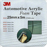 3M™ GT 6008 Пеноакриловая двухсторонняя клеящая лента ( скотч ) 25мм х 5м, толщ. 0,8мм