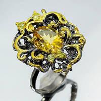 Цитрин, серебро 925, кольцо ручной работы, 590КЦ, фото 1