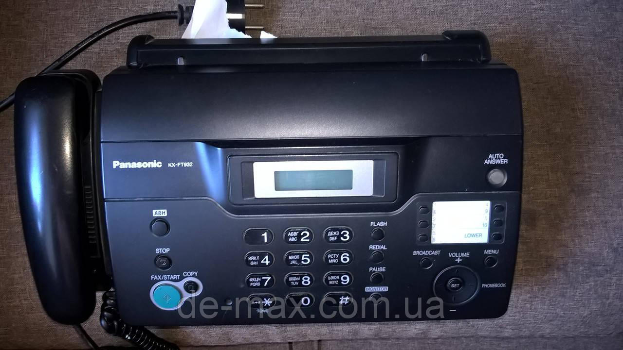 Телефон Факс Panasonic KX-FT932 б/у