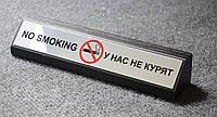 Табличка NO SMOKING на деревянной основе
