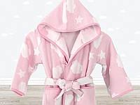 Халат детский Cloud розовый 7-8 лет Irya