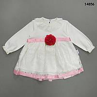 Нарядное платье для девочки. 3 мес