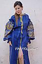 Платье лен вышитое золотой нитью, бохо, вышиванка, этно, бохо-стиль, вишите плаття вишиванка, Bohemian, фото 2