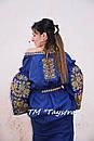 Платье лен вышитое золотой нитью, бохо, вышиванка, этно, бохо-стиль, вишите плаття вишиванка, Bohemian, фото 5