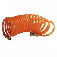 Шланг спиральный с быстроразъемным соединением 15 м INTERTOOL