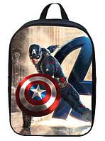 Не большие рюкзаки с принтами железного человека и капитана америки