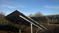 Система креплений для солнечных панелей наземная (одно опорная)