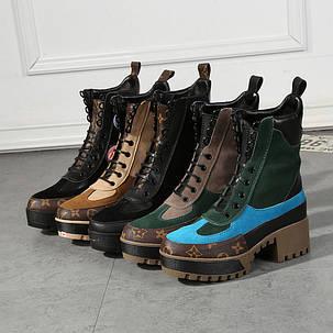 Ботинки демисезонные на каблуке кожа , фото 2