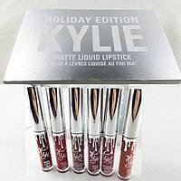 Набор Жидких Матовых Помад Kylie Jenner Holiday Edition, фото 1
