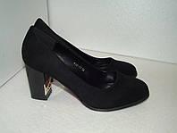 Замшевые женские туфли, р. 37