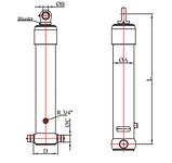 Гидроцилиндр телескопический 5 штоков, фото 2