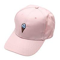 Женская розовая бейсболка (пудровая)