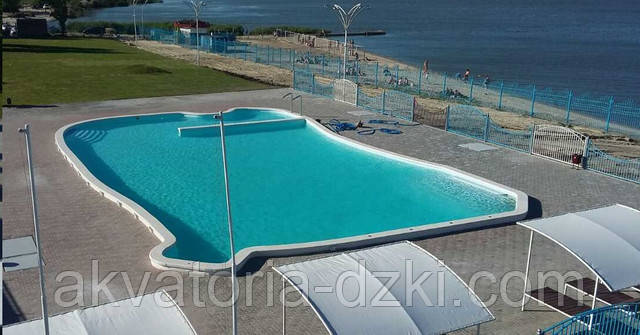 Суцільнолитий композитний басейн 25 м